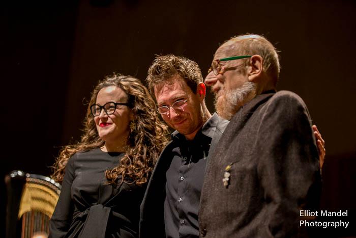 Sharon Harms, David Fulmer, and composer John Eaton.