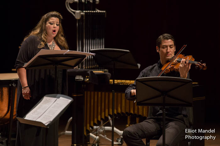 "Soprano Michelle Areyzaga and violist Masumi Per Rostad perform Earl Kim's ""Now and Then."""