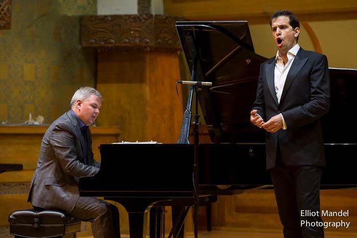 Bass-baritone Luca Pisaroni with pianist Craig Terry.