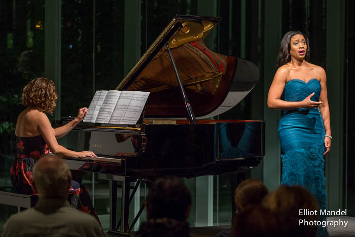 Soprano Laquita Mitchell and pianist Shannon McGinnis.