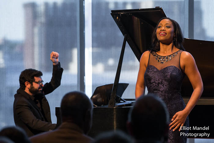 Soprano Laquita Mitchell and pianist Michael Brown.