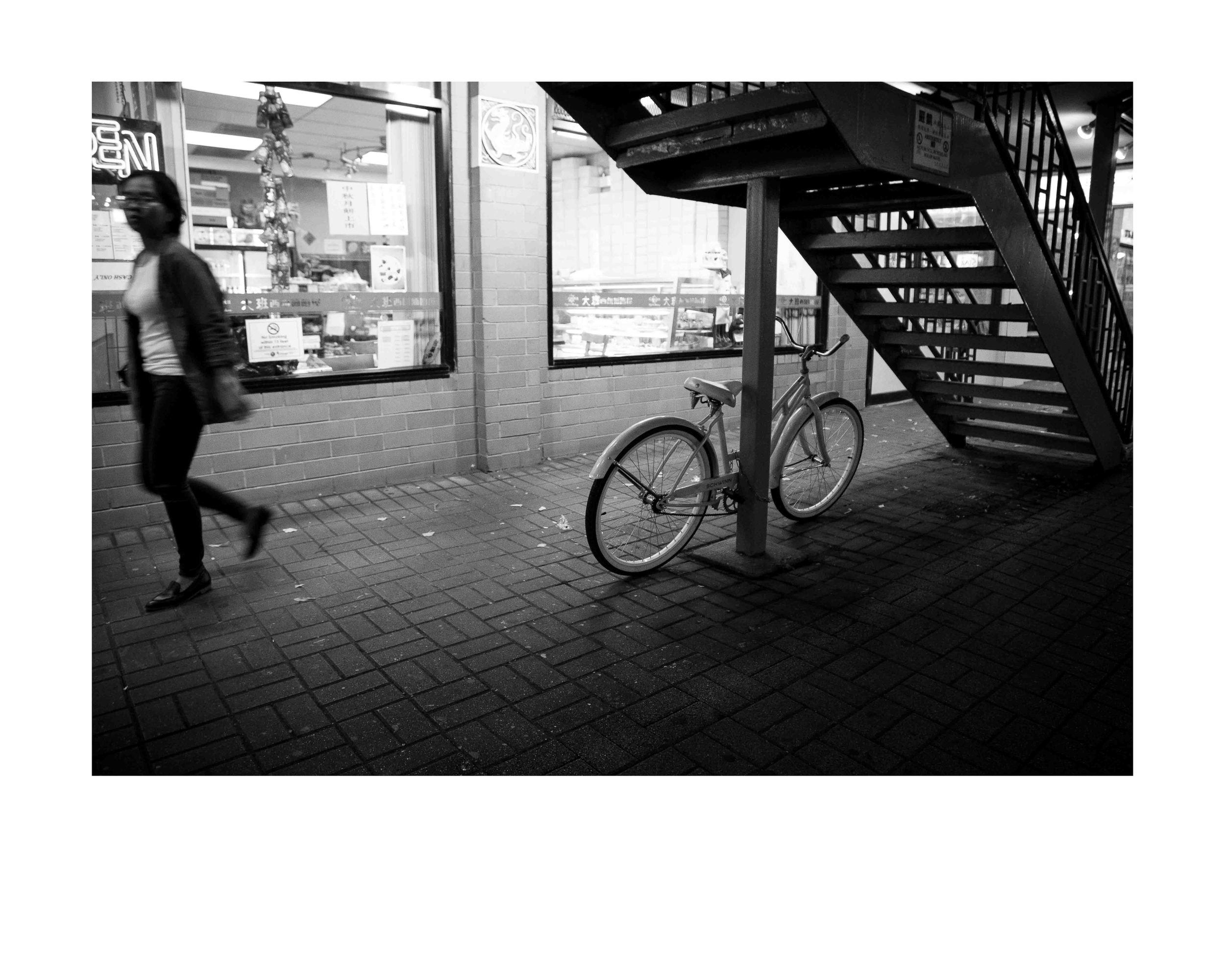 Chinatown Shadow.16x20 framed. $150
