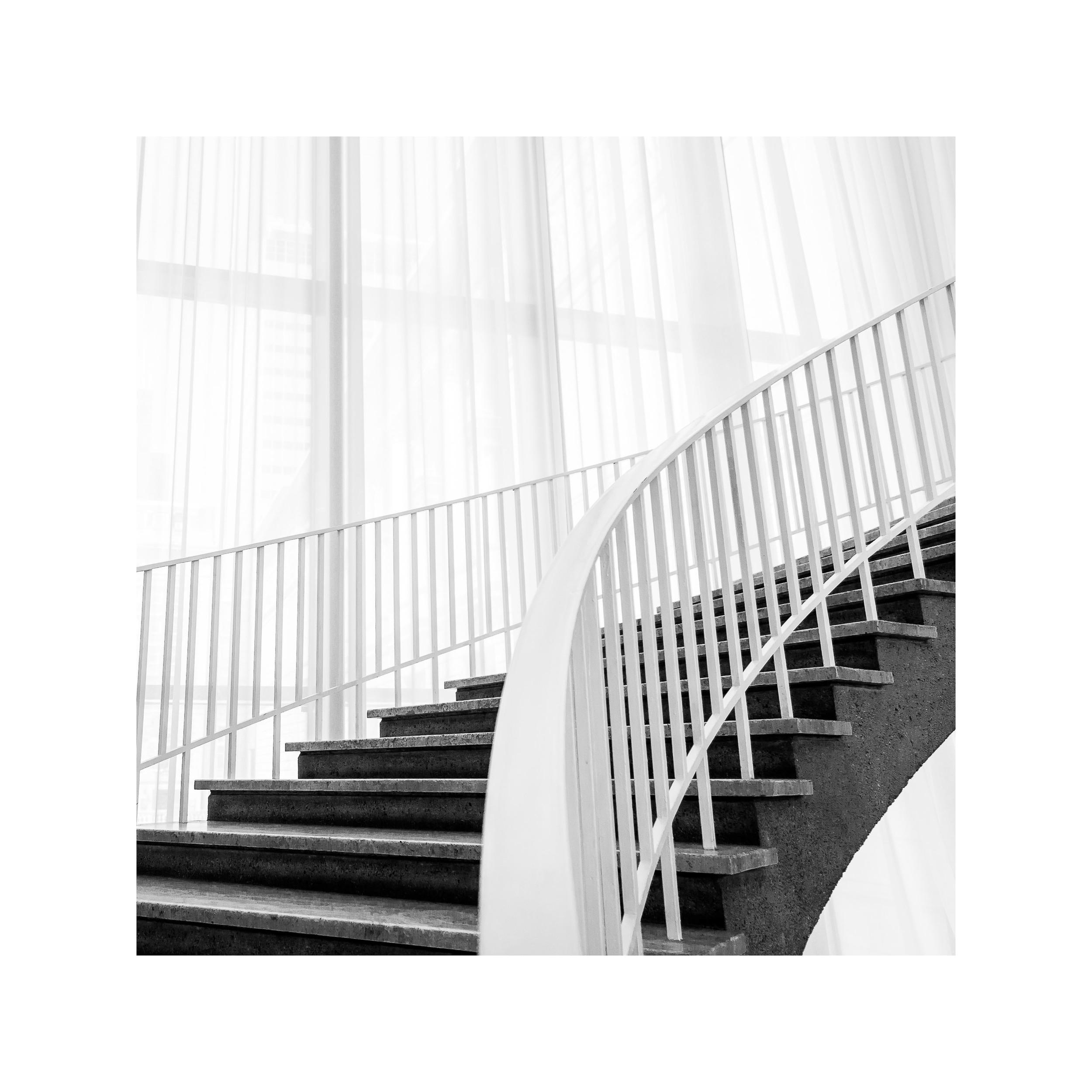 Art Institute Staircase Study. 12x12 framed. $75.