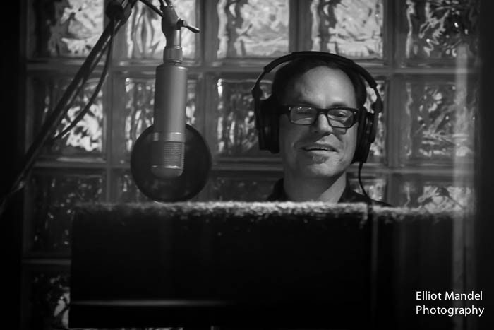 "Kurt Elling in studio recording ""The Beautiful Day"""