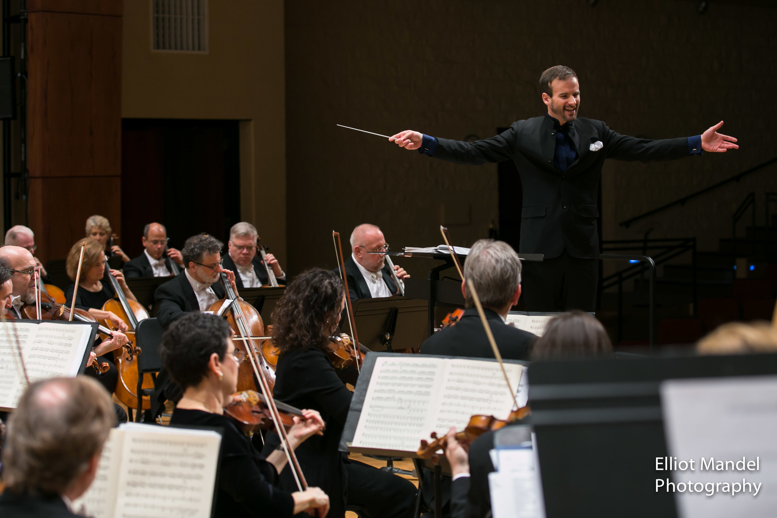 Vladimir Kulenovic leads the Lake Forest Symphony, January 24, 2018.