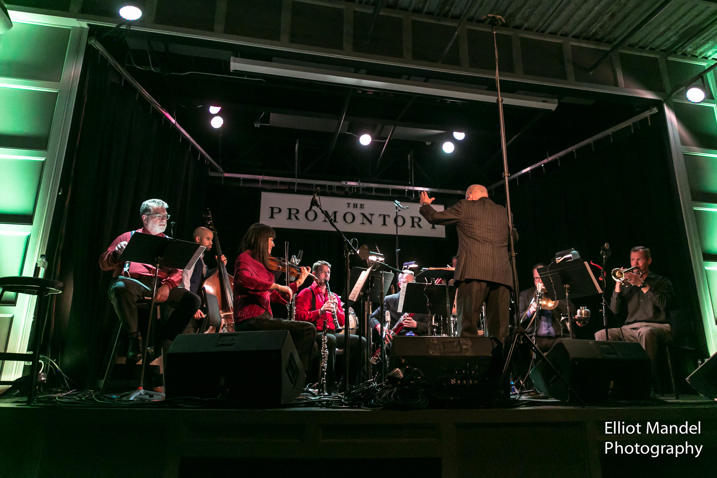 Stephen Burns and Fulcrum Point New Music Project perform music by Wynton Marsalis at The Promontory in Hyde Park, March 28, 2018.