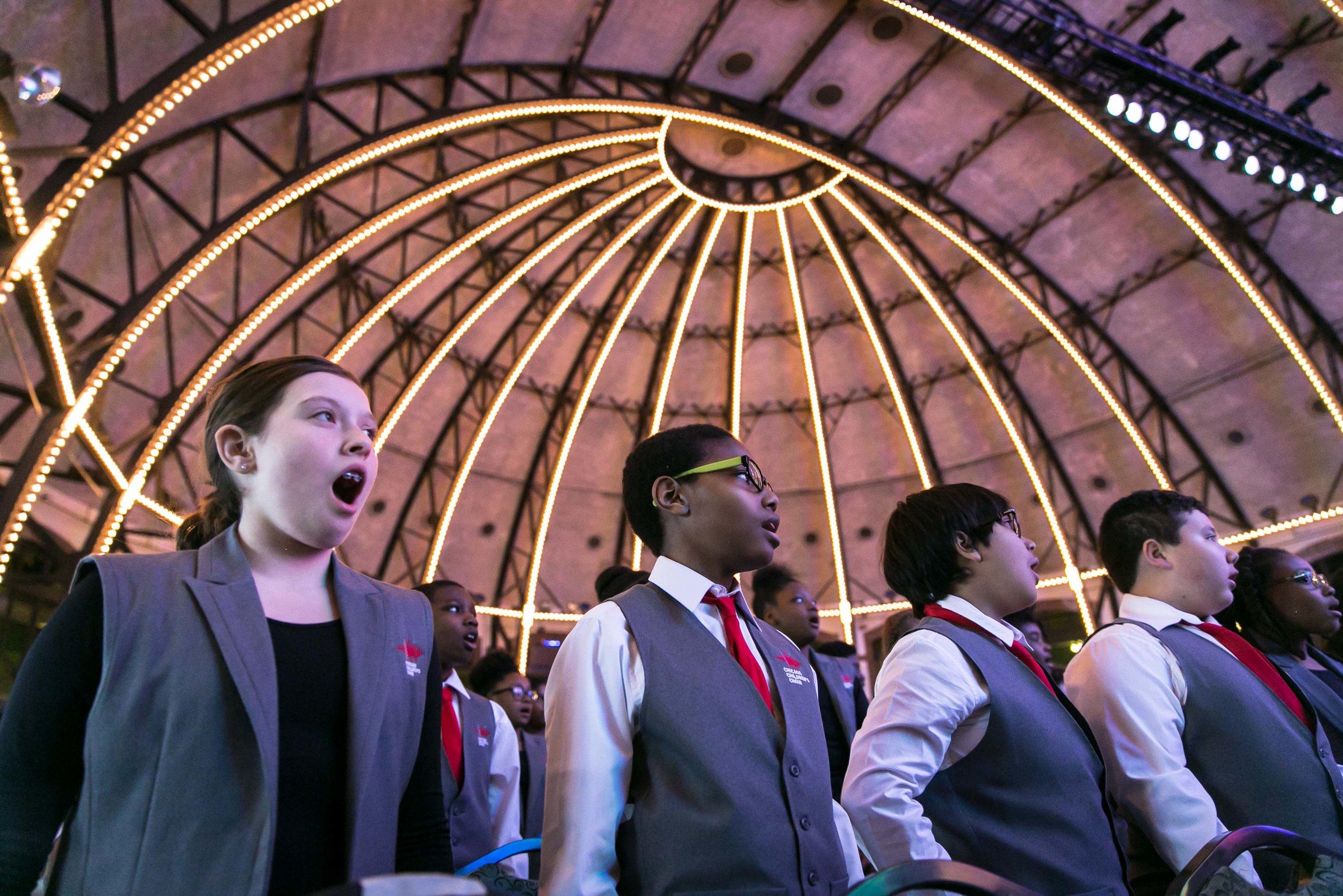 Chicago Children's Choir at Navy Pier.