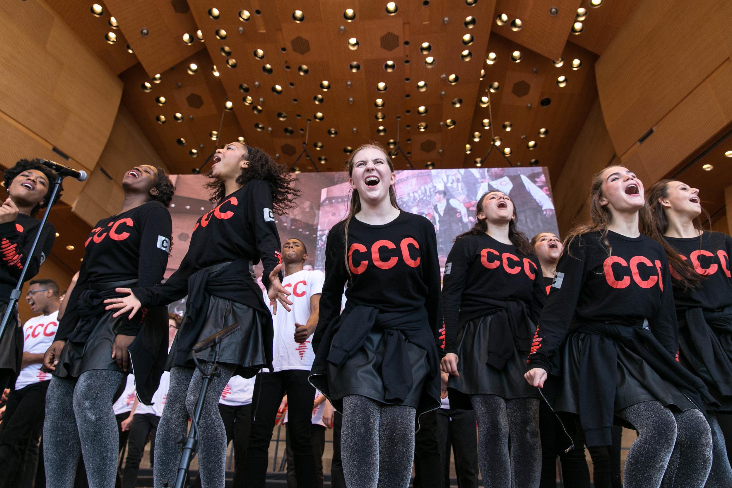 Chicago Children's Choir in Millennium Park.