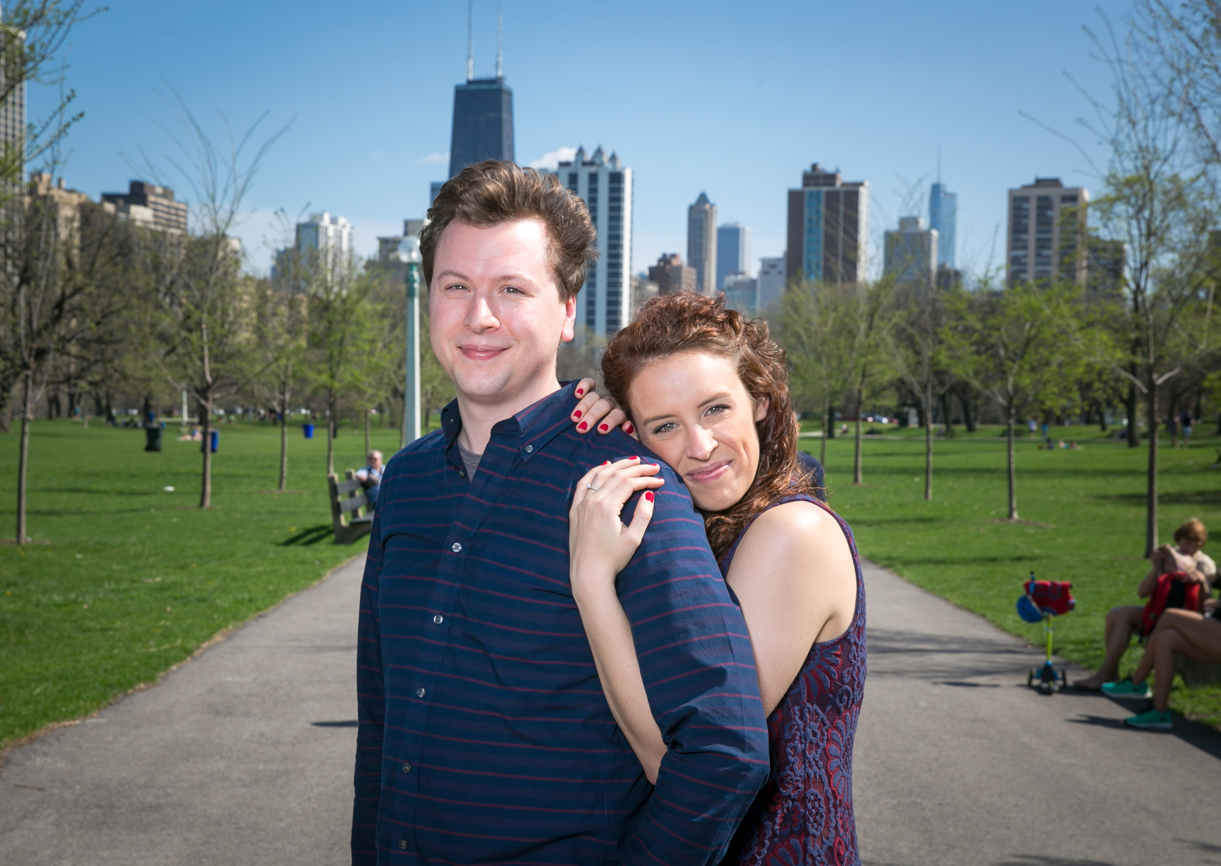 Engagement session with Kristi and Greg in Lincoln Park.