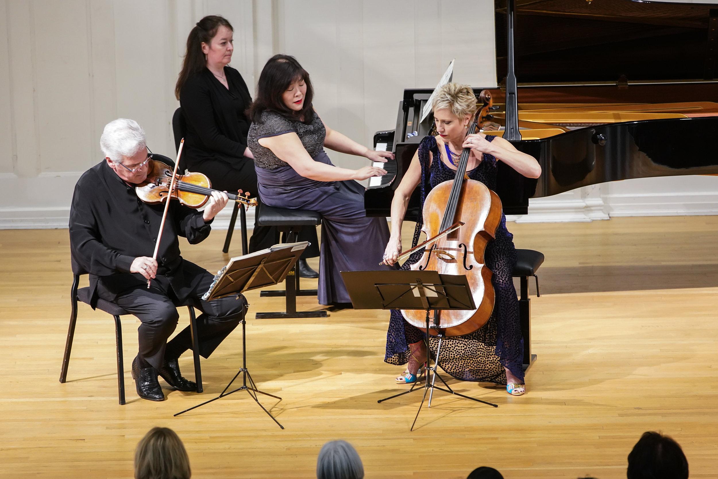 The Zukerman Trio at the Music Institute of Chicago.