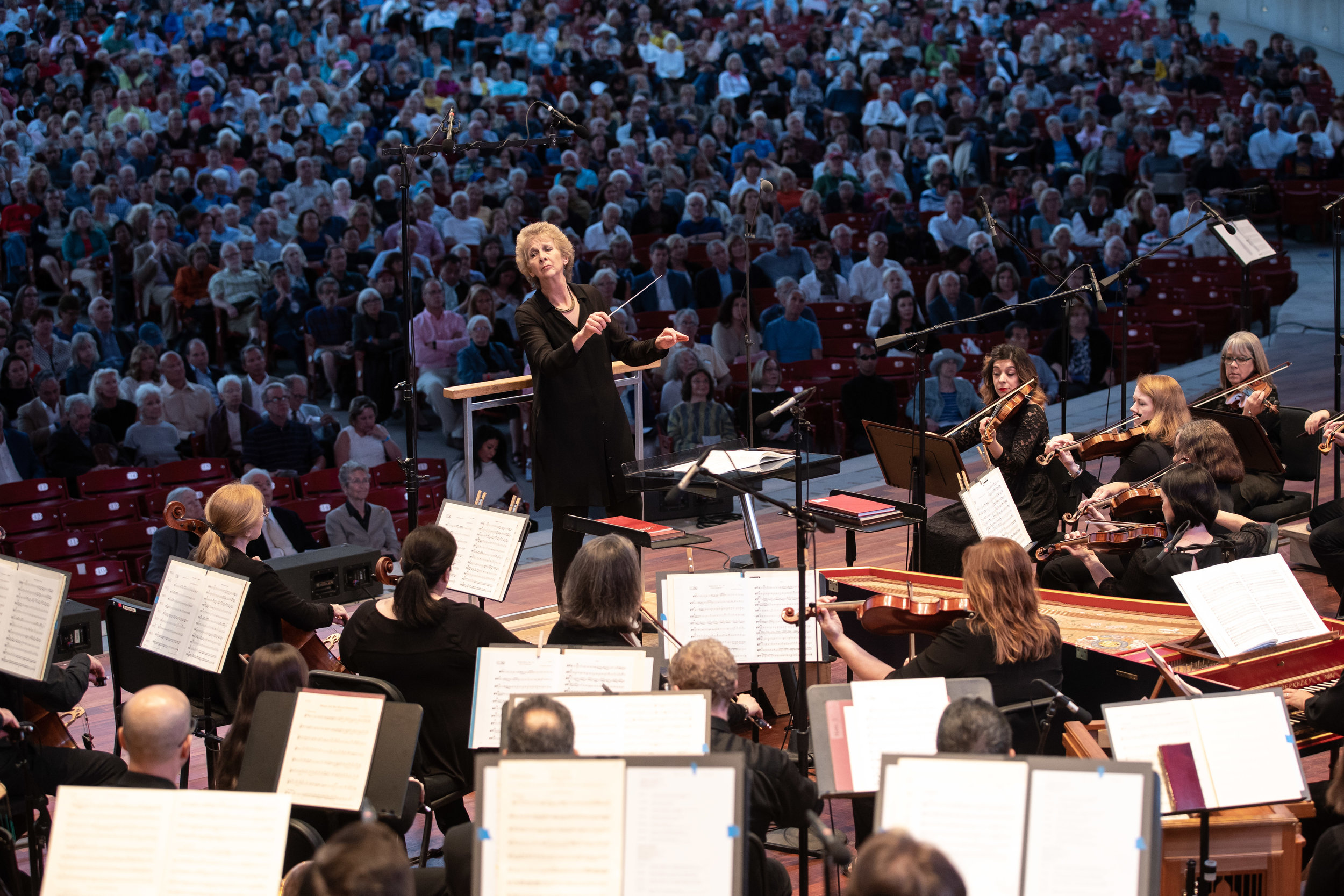 Jane Glover leads Music of the Baroque in its Millennium Park debut (Sept 12, 2018).