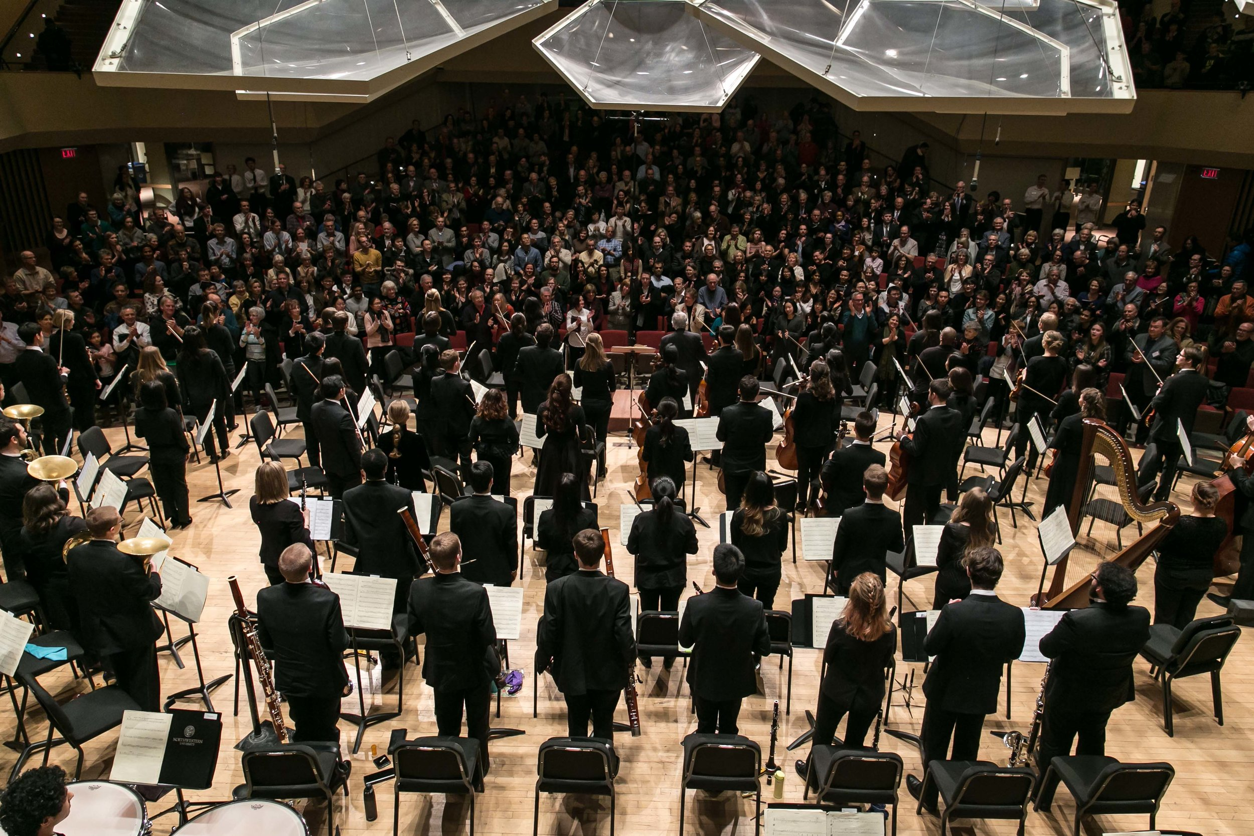 Victor Yampolsky and the Northwestern University Symphony Orchestra after a blistering Mahler 5 (Feb 3, 2018).