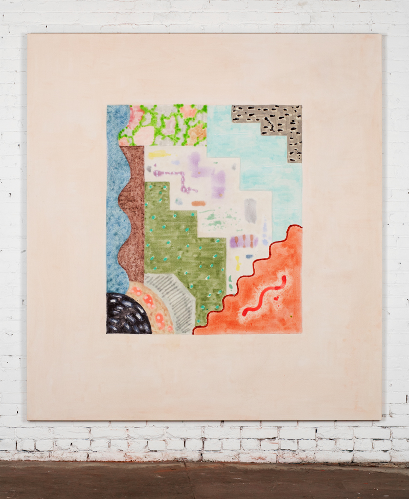 On view at the 2014 Whitney Biennial: Rebecca Morris, Untitled (#01-13), 2013. Oil on canvas, © Rebecca Morris