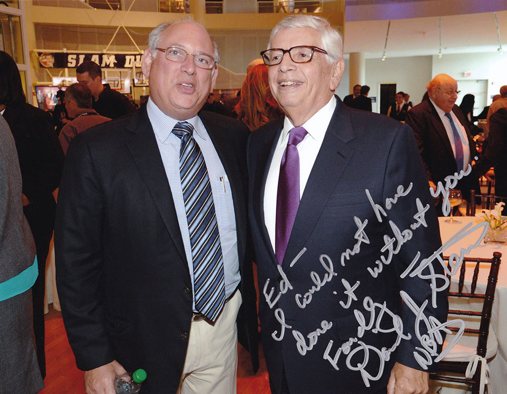 Ed Desser (left) with David Stern (right)