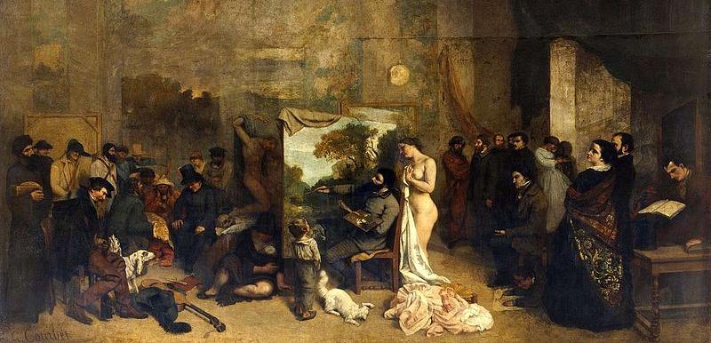 Gustave Courbet, The Painter's Studio    (1855), Musée d'Orsay, Paris