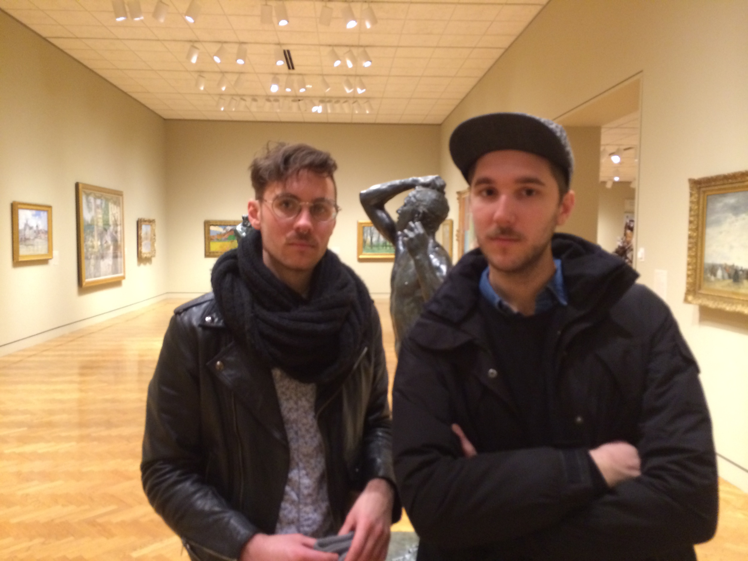 Cameron McKee (left) and Shane Duncan (right), my Artist Date cohorts at the MIA