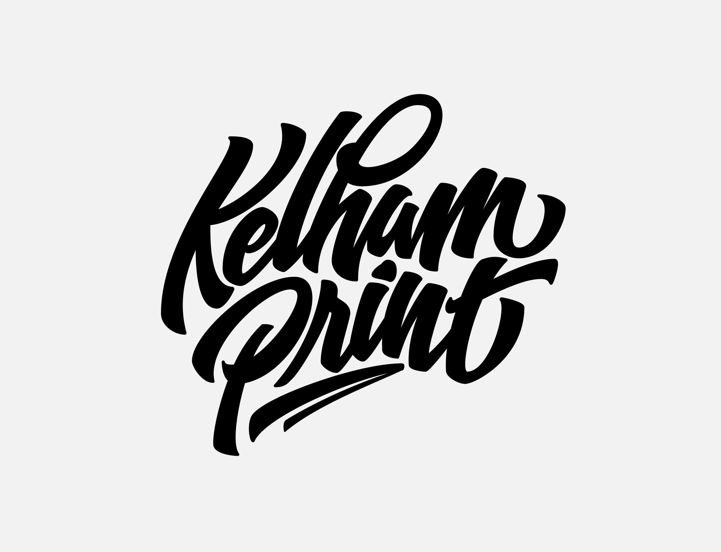 Pelham Print Black