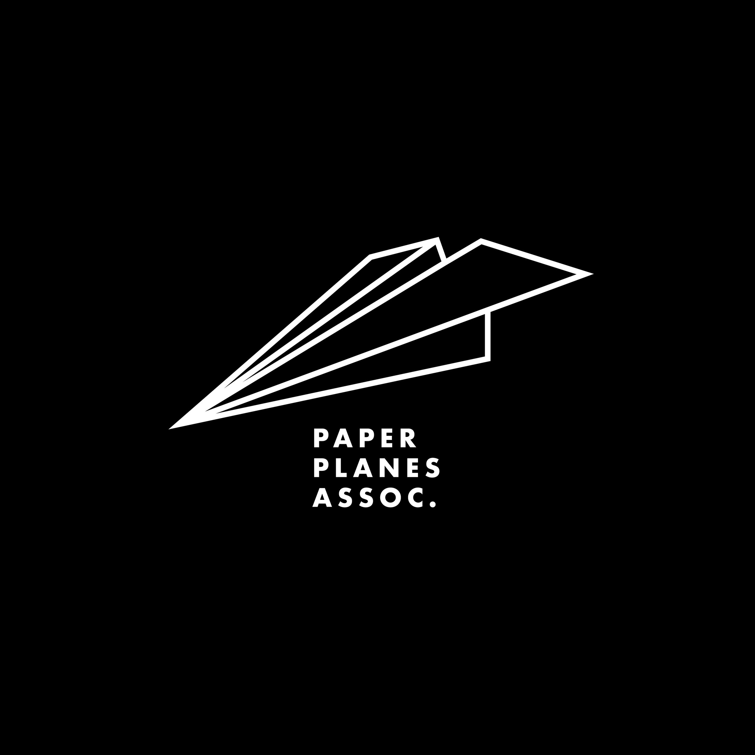 Paper Planes Assoc. - White on Black