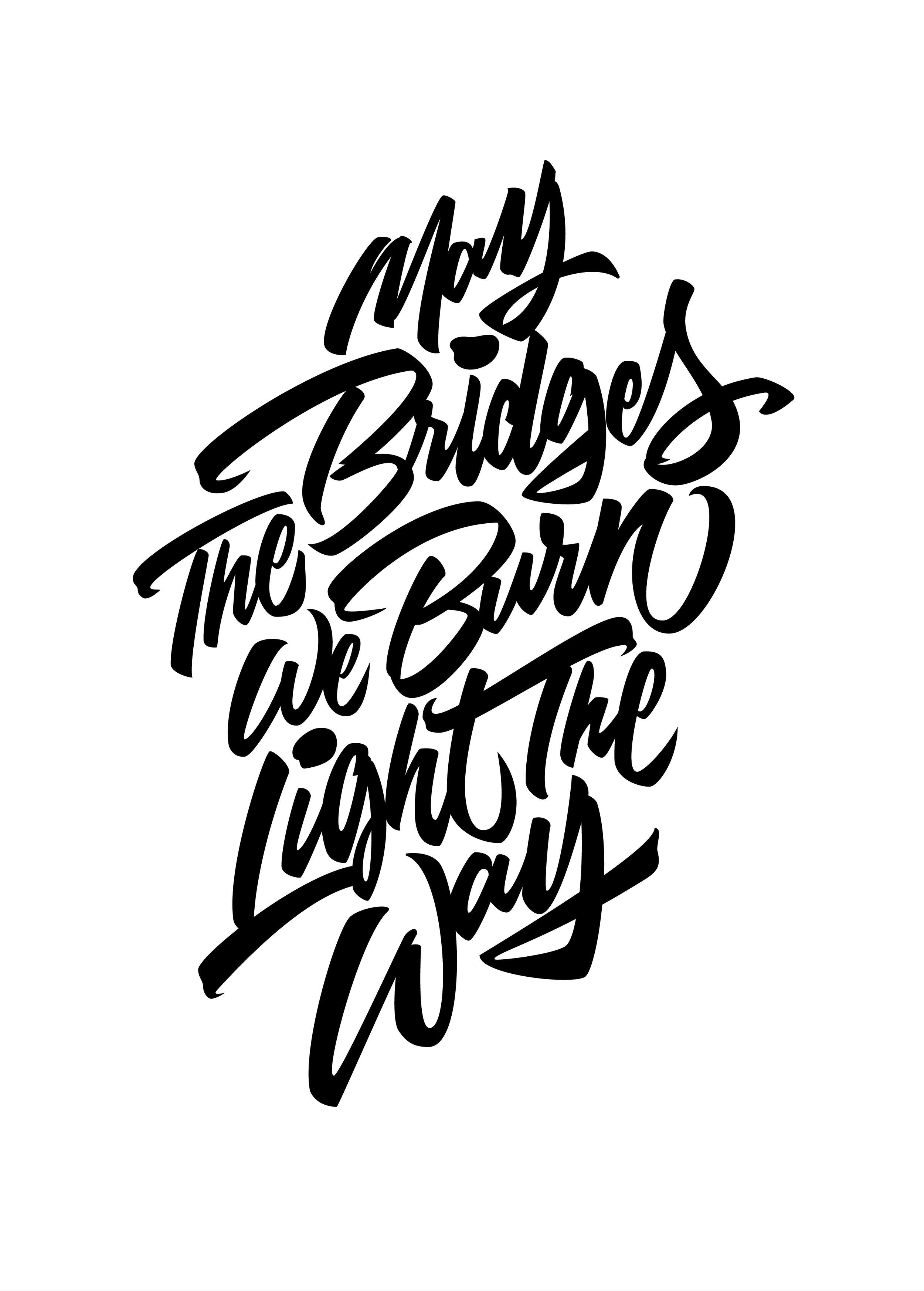 Burnt Bridges - Black