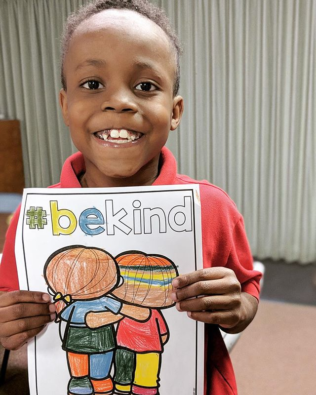 Staring off the week with a reminder from this sweet boy to be kind! It's easy to do and can make a world of difference!