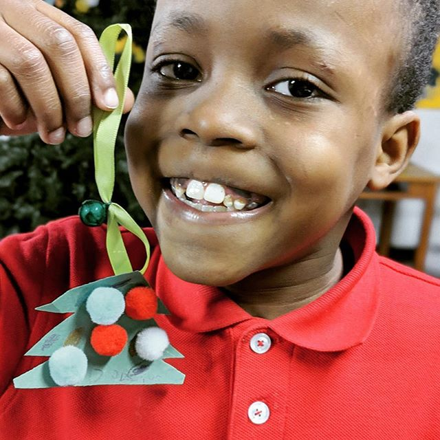 One of our favorite Christmas traditions at Like a Lion is filling our tree will homemade ornaments. Here is a picture of the first one we made this year!
