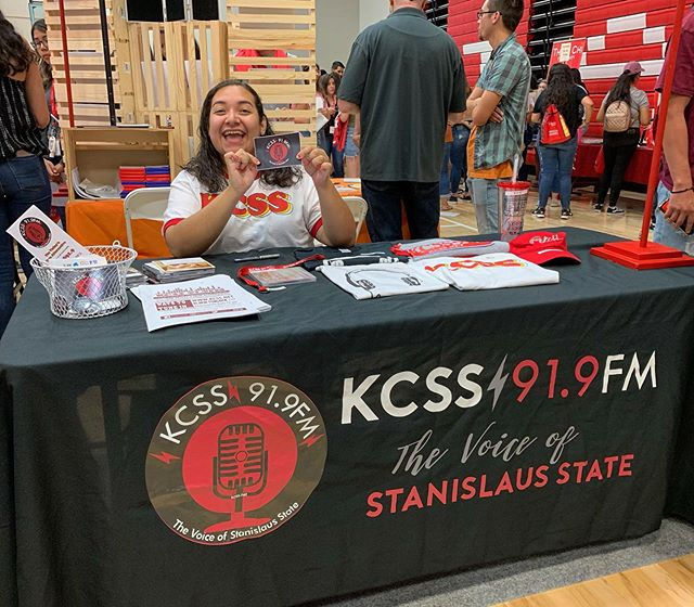 Today's NSO was another hit, thank you for everyone that came by and said hey 👋🏼😄 #kcssradio #studentradio #csustan #stanstate #turlock