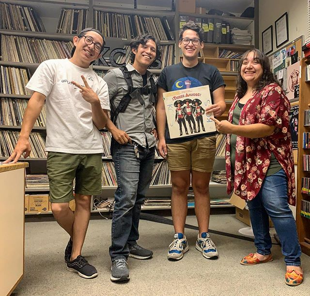 Shoutout to @theshirecs for stopping by and saying hi 👋🏼 #kcss919 #stanstate #turlock #csustanislaus #collegeradio #localradio #instudiosession  Make sure you checkout their upcoming show this Saturday from 7-11pm in downtown Modesto at the Monsoon on 10th Street