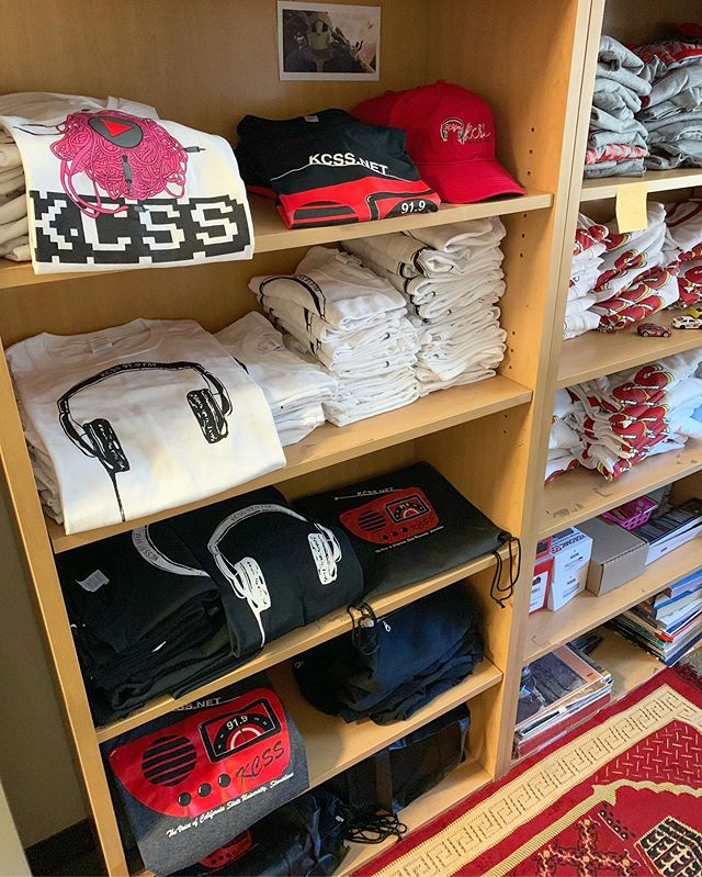 Keep an eye on our site where some of our older shirts will be on sale very soon! #kcssradio #kcss919 #collegeradio #supportyourlocal #csustanislaus #stanstate