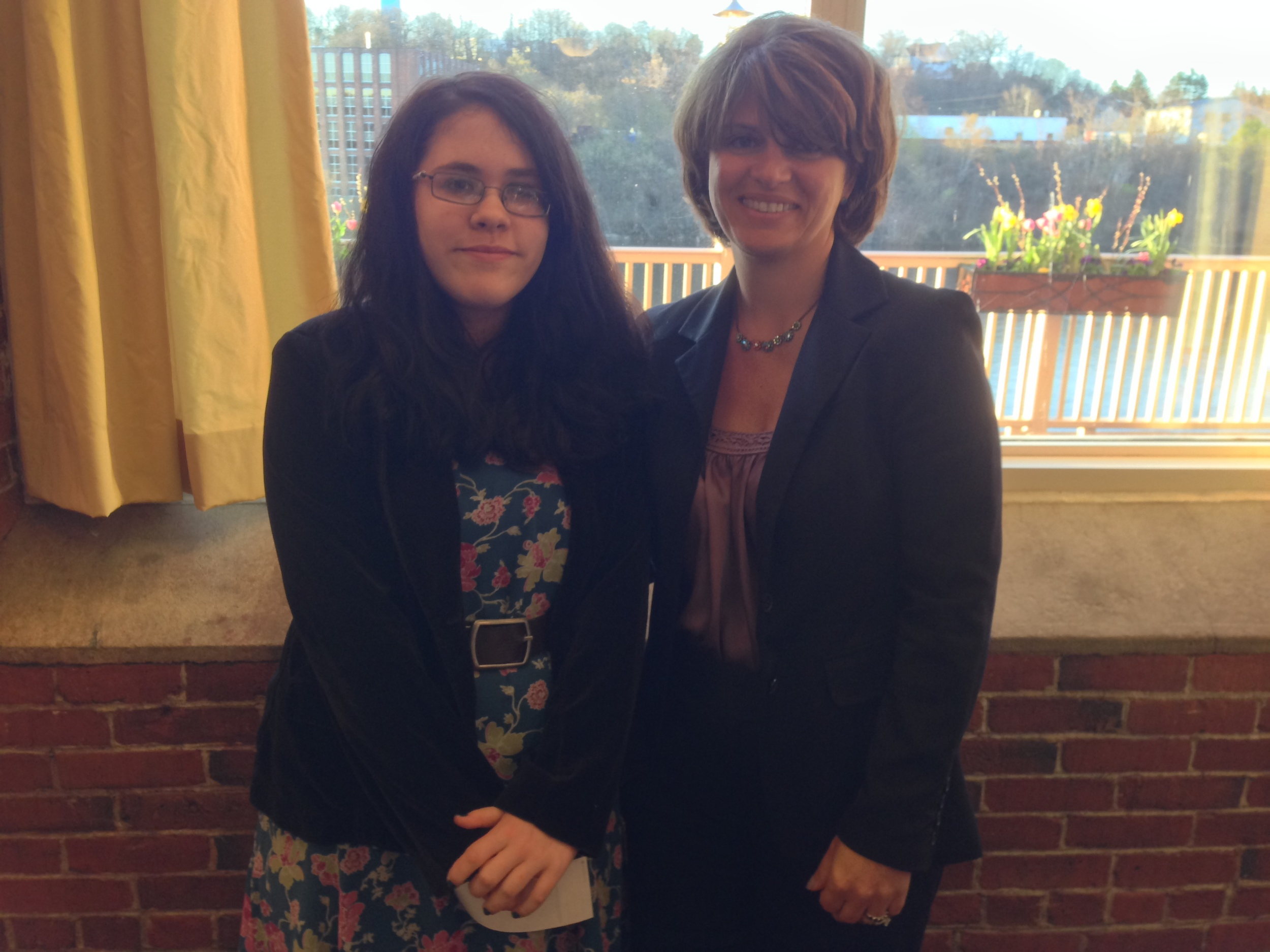 Speech contest winner, Sage Couture, with Hon. Lynn Rooney