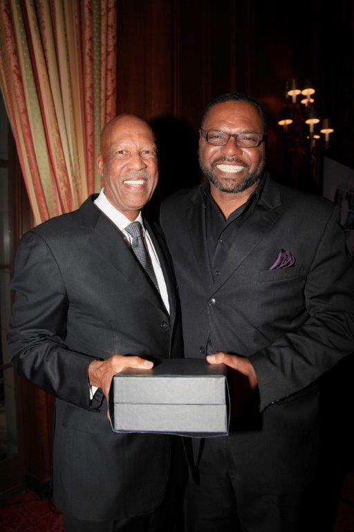 Dr. Terrence J. Roberts and   Justice Awards   Master of Ceremonies Petri Hawkins-Byrd (an actor known for his   role as bailiff on the television court program Judge Judy)