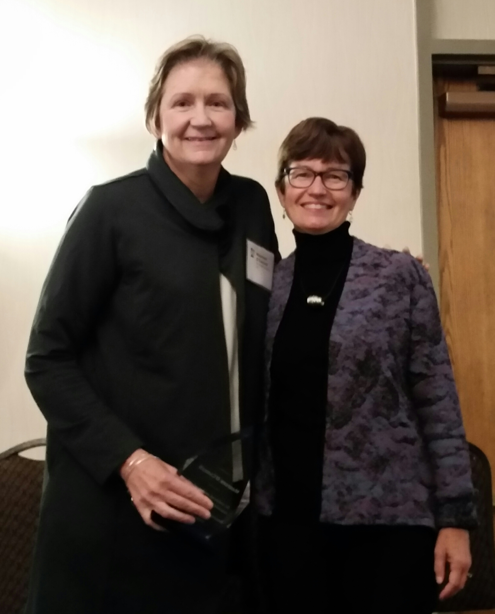 Maureen O'Connell and Cathy Haukedahl, 2017 Pillars of Justice
