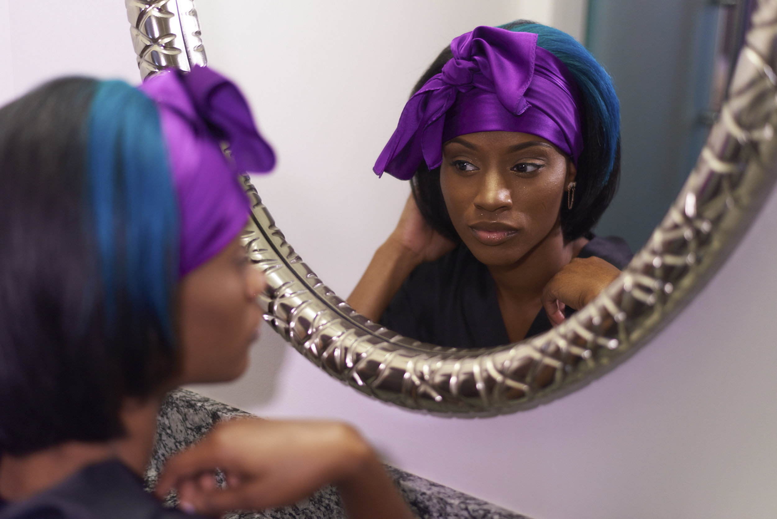 THE PERFECT HEAD TIE - Available in purple.