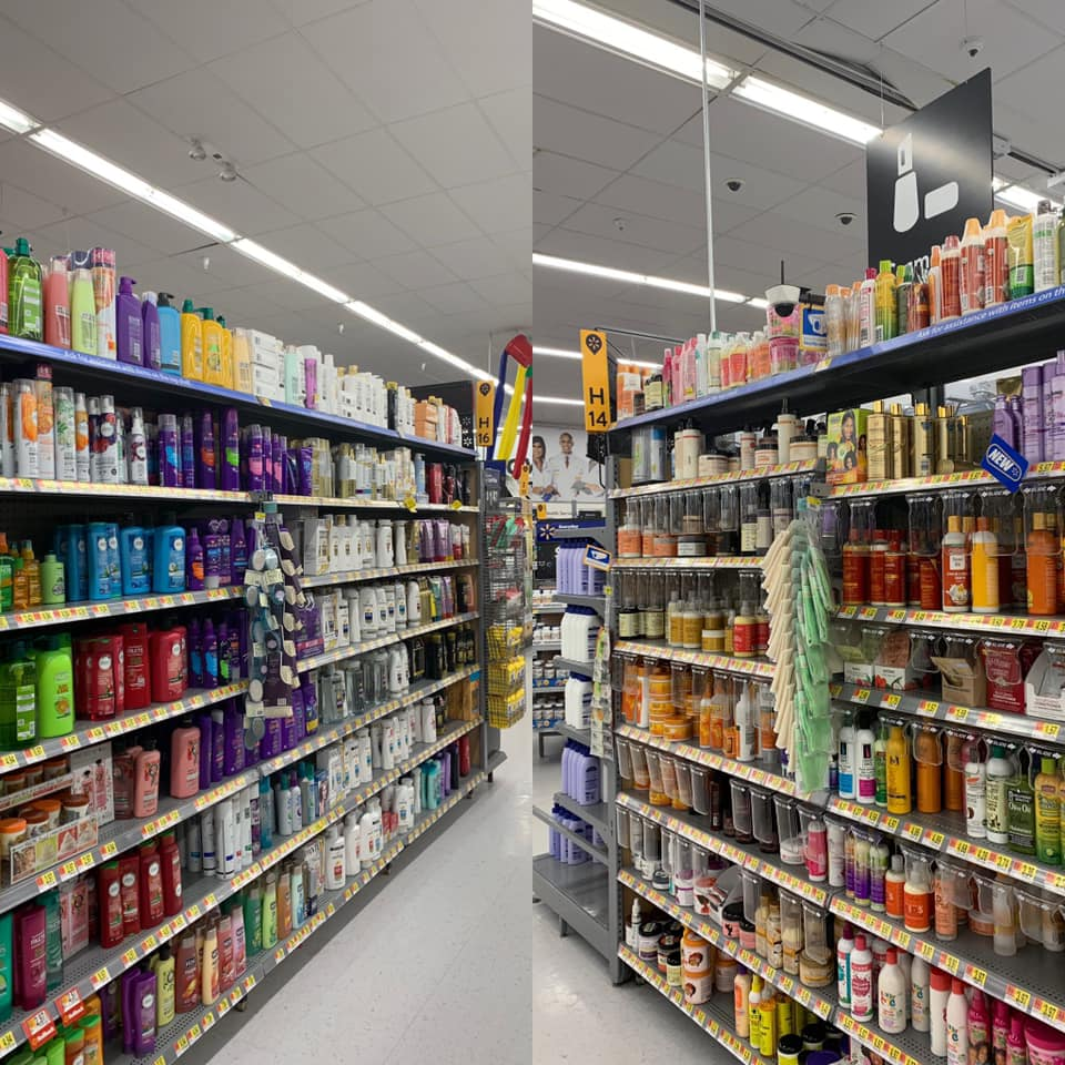 Caucasian products, left. African American products, right.