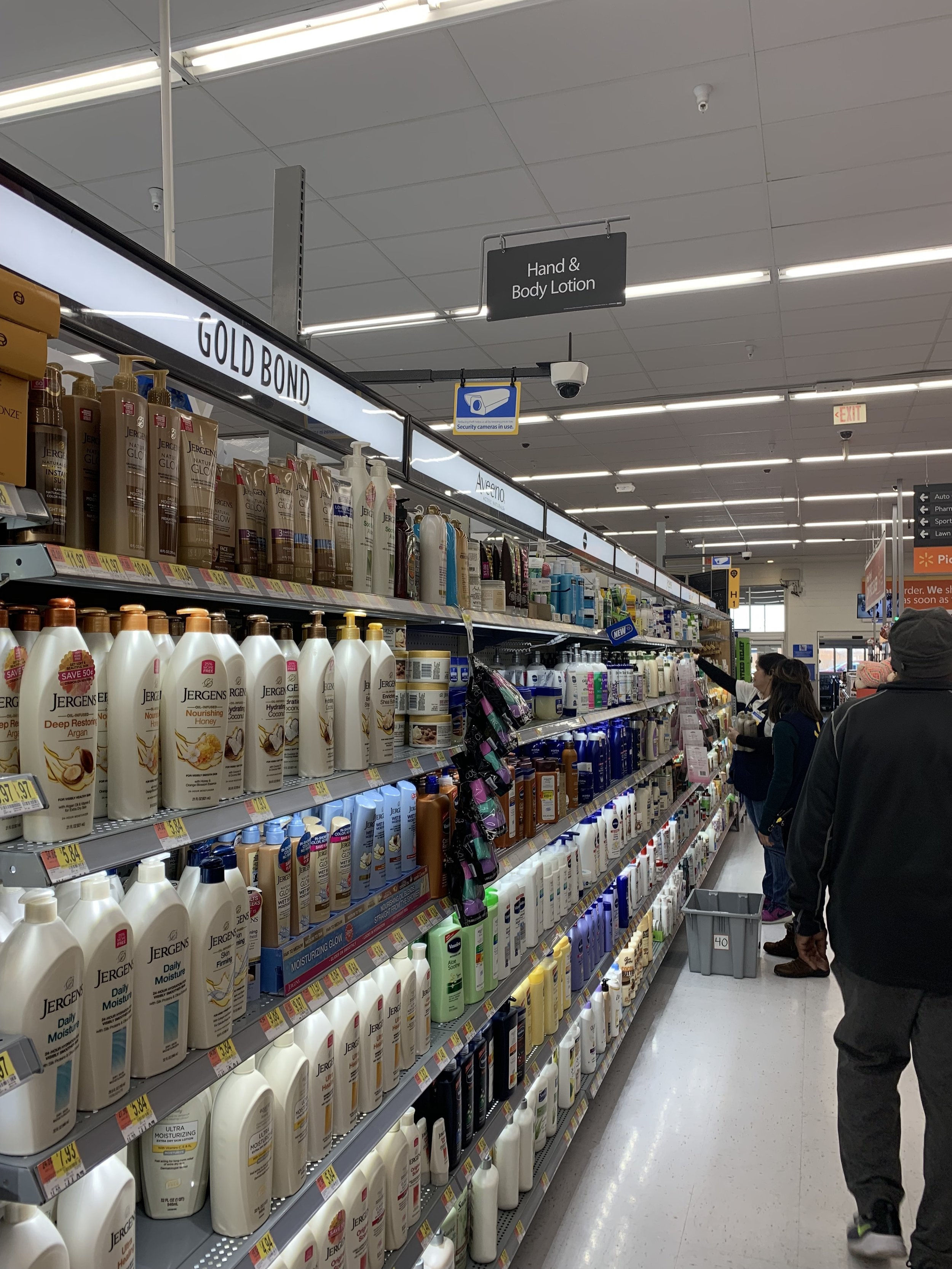 Walmart: Lotion Display