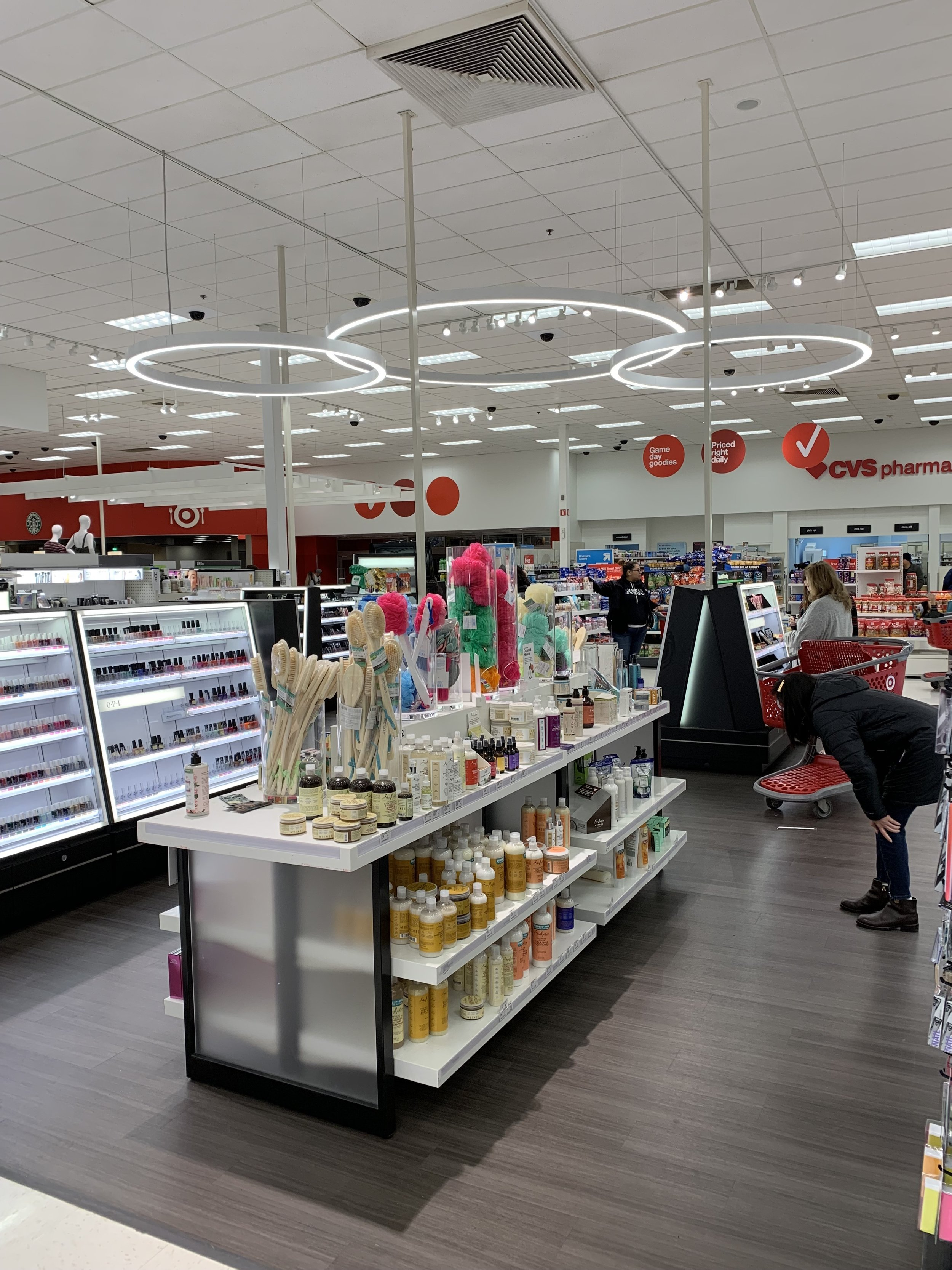 Target: beauty product layout
