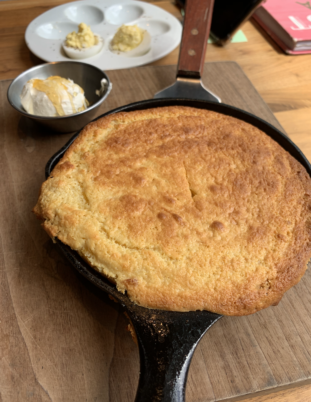 Skillet Cornbread and Honey Butter