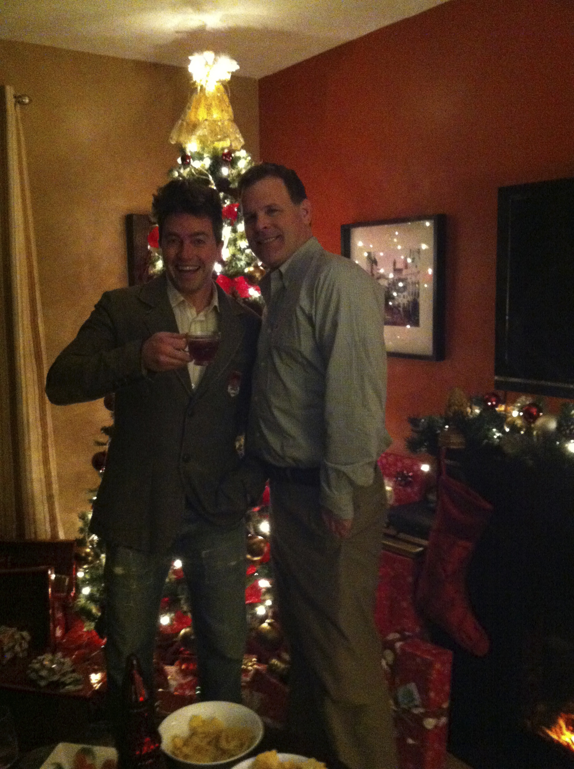 Me and Minister of Foreign Affairs John Baird enjoying the Yuletide…whatever the fuck that means