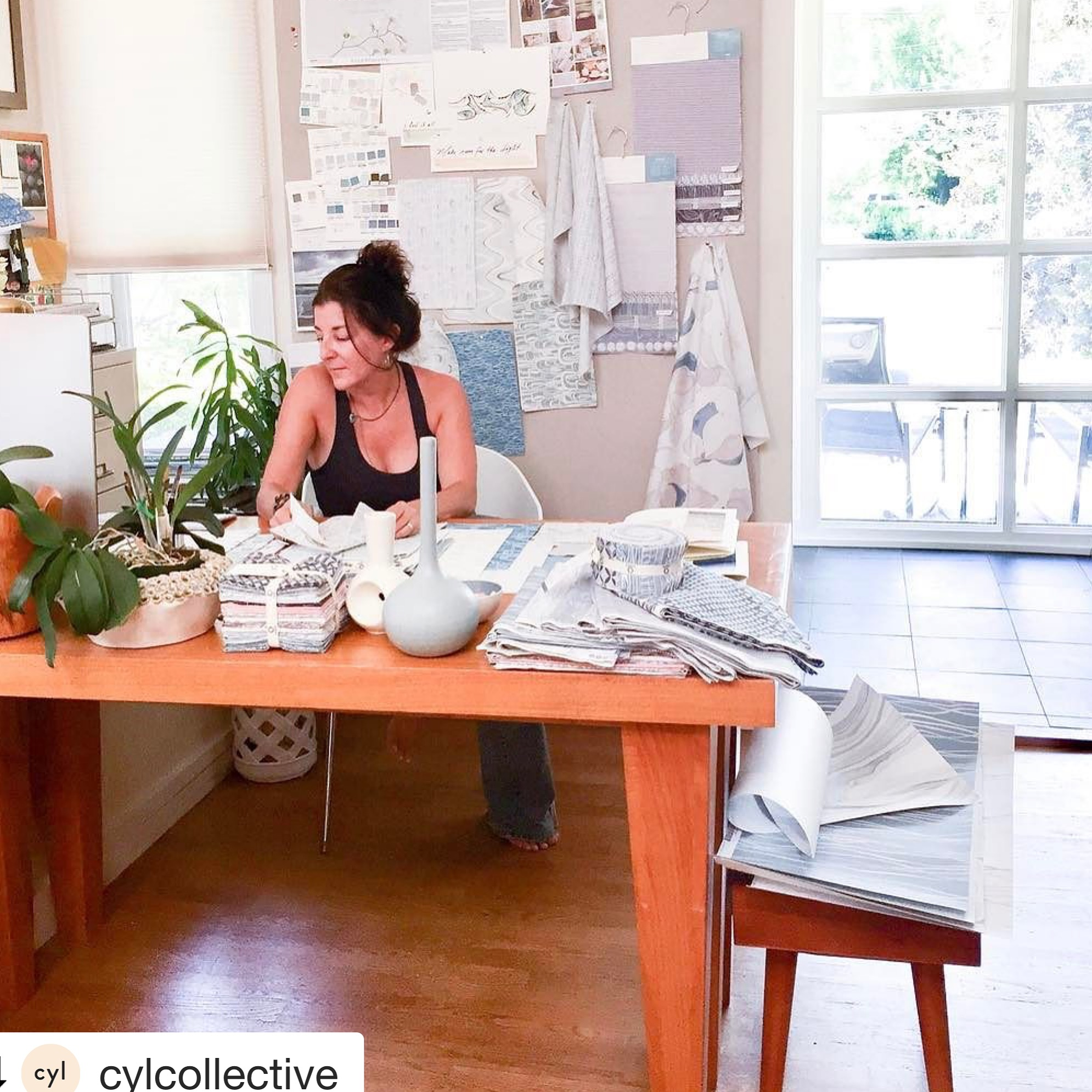 Designer Shell Rummel In her art and design studio