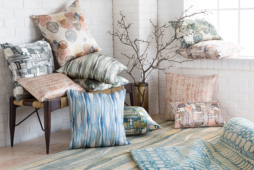 Shell Rummel Natural Affinity Silk Pillow collection