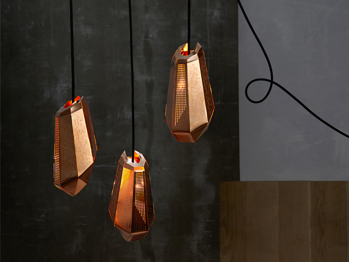 Eldleiftur  Copper Lightshade