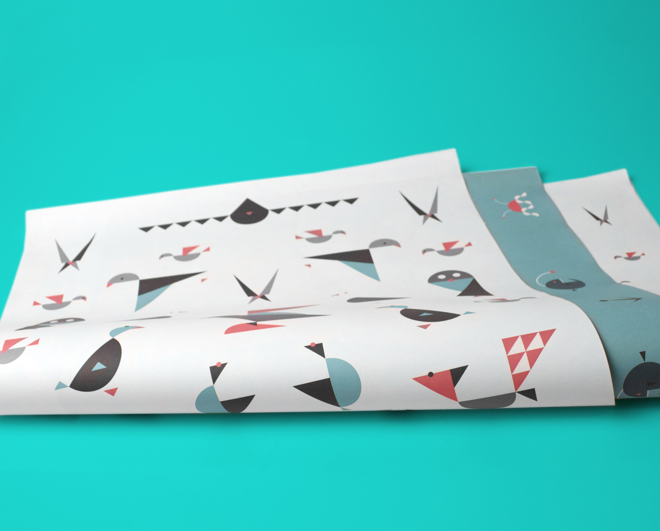 Scandinavian Animals    Giftwrapping Paper