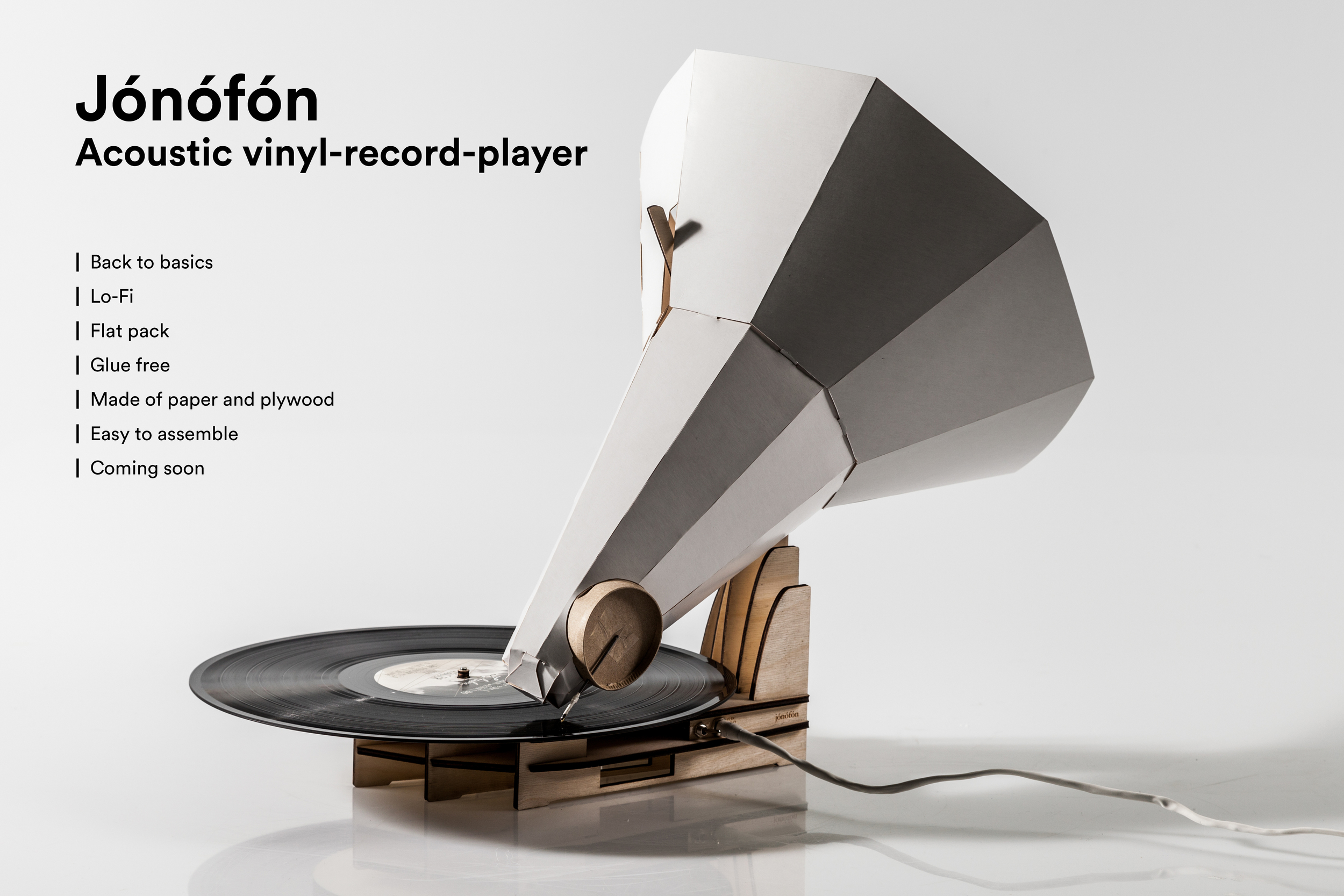 Jónófón  -   An Acoustic Vinyl Record Player