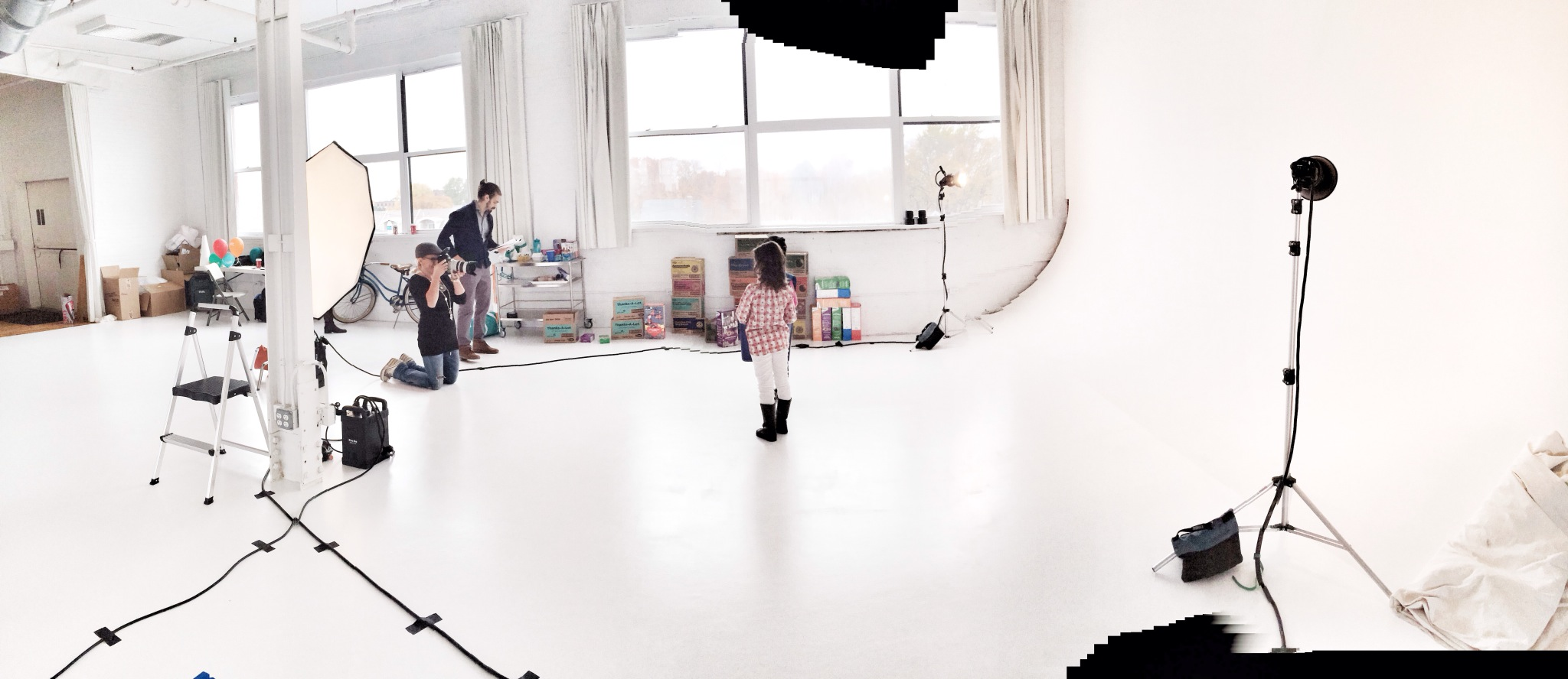On location in Boston for ABC Bakers and Girl Scouts of America