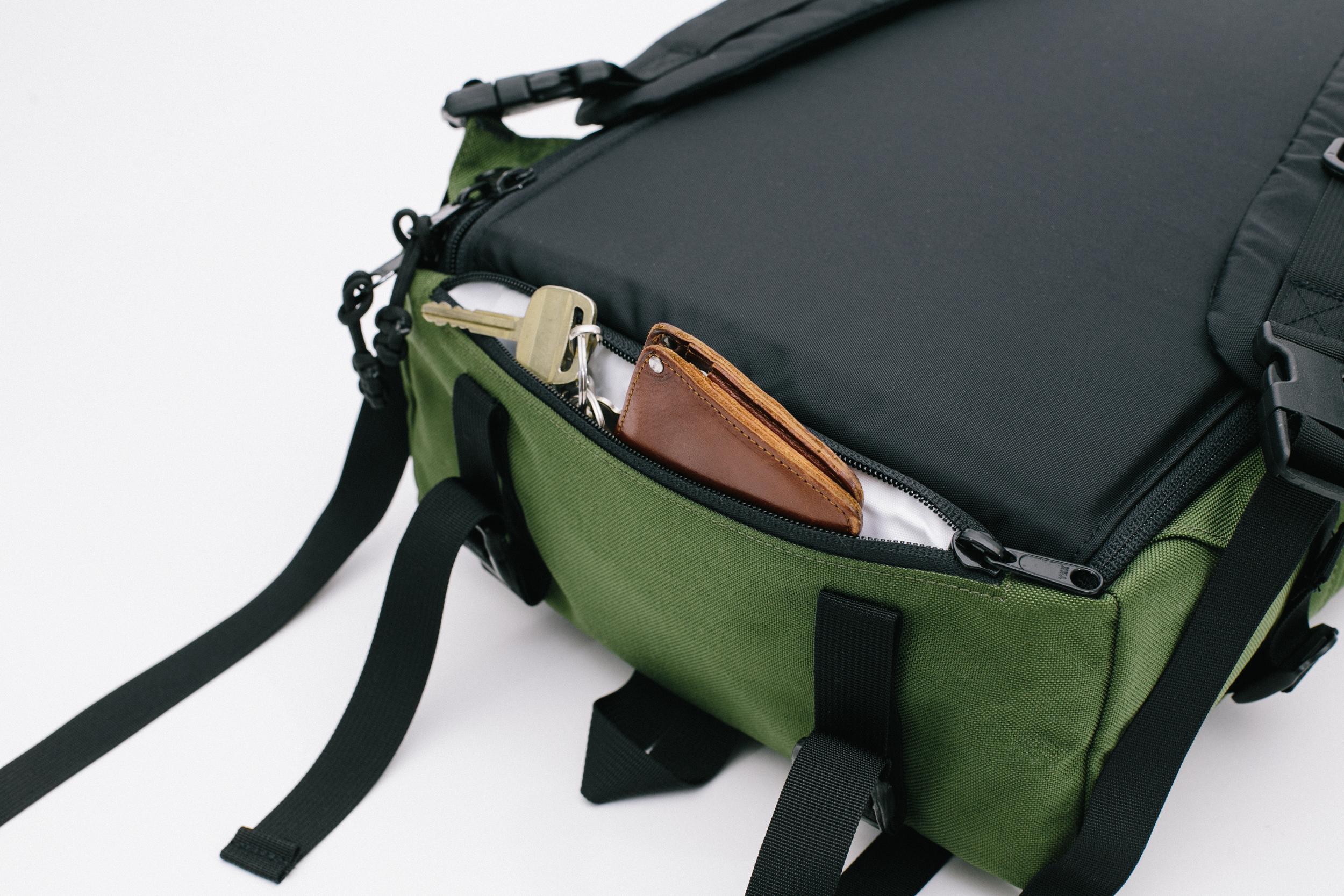 Bottom secret compartment for valuables
