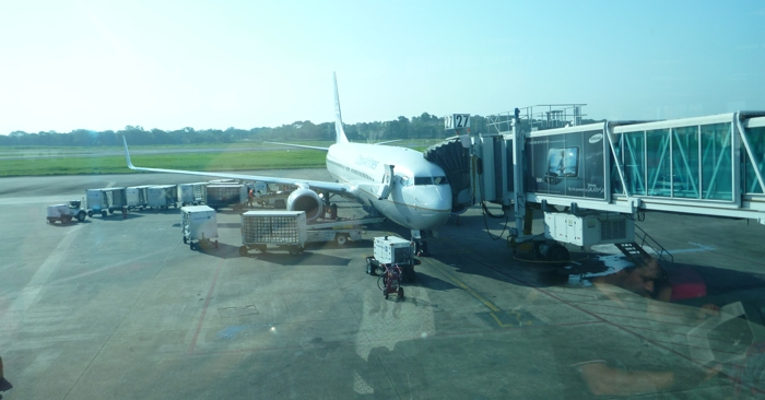 Our plane at Tocumen International Airport.