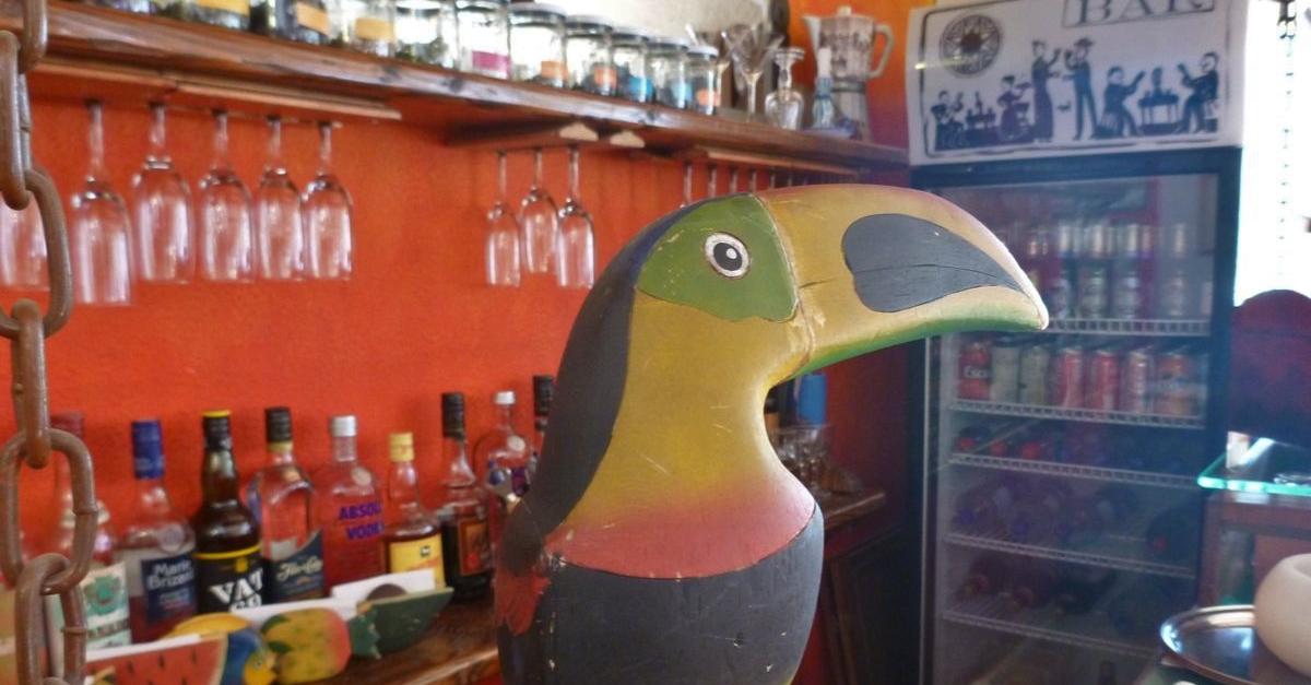 The bar at Hostal Rió Amazonas