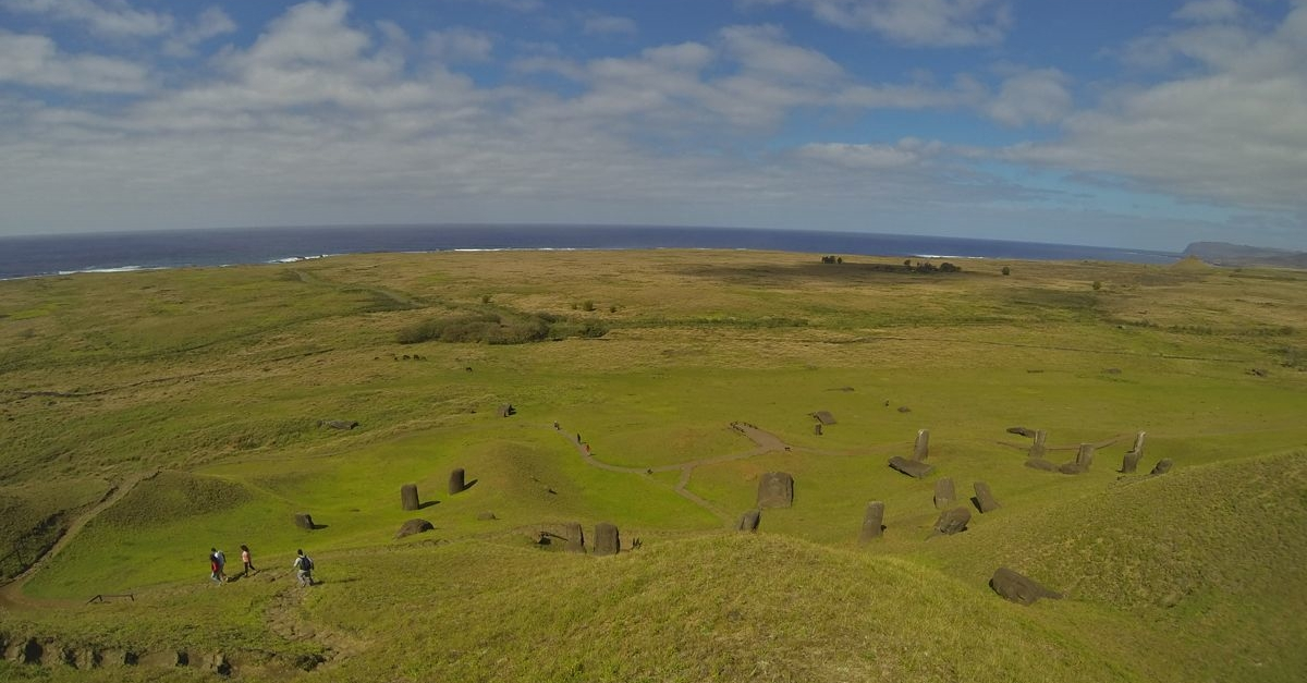 Rano Raraku ... toward the ocean.