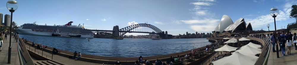 Panorama of Sydney Harbour.
