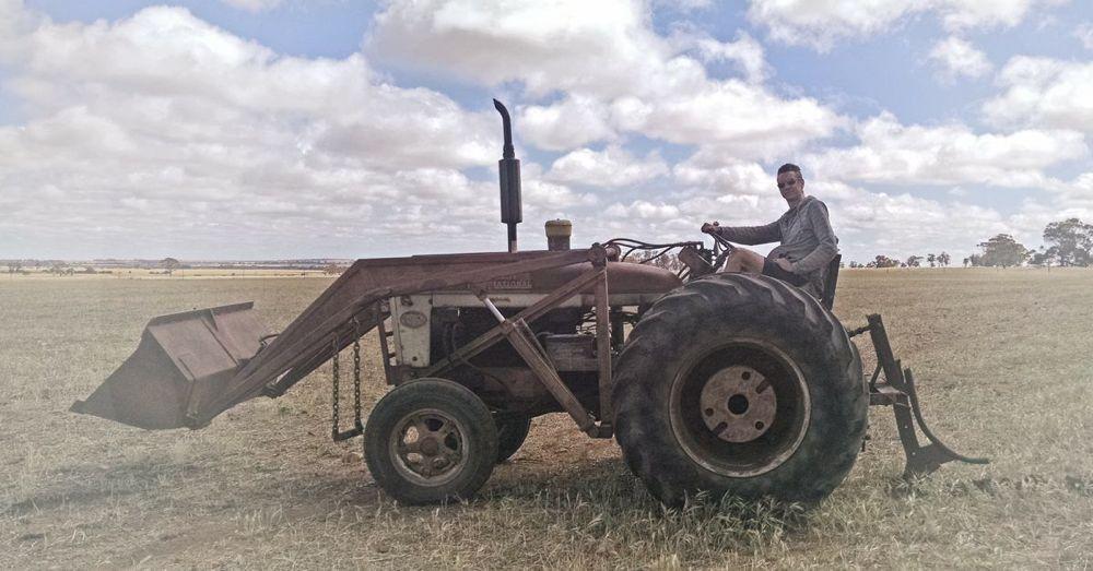 Tractor-drivin' man.
