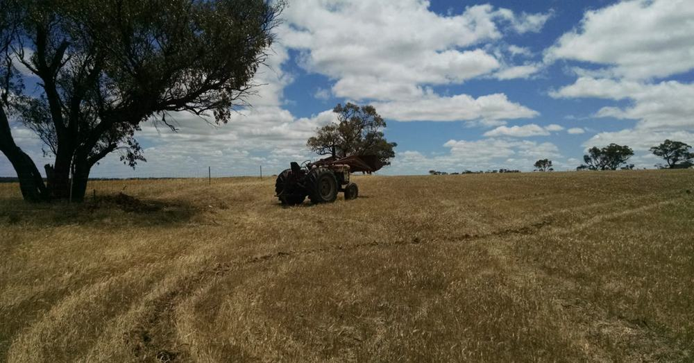 Tractor on the hill.